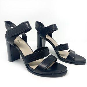 Nine West Black Paynter Heels Size 10